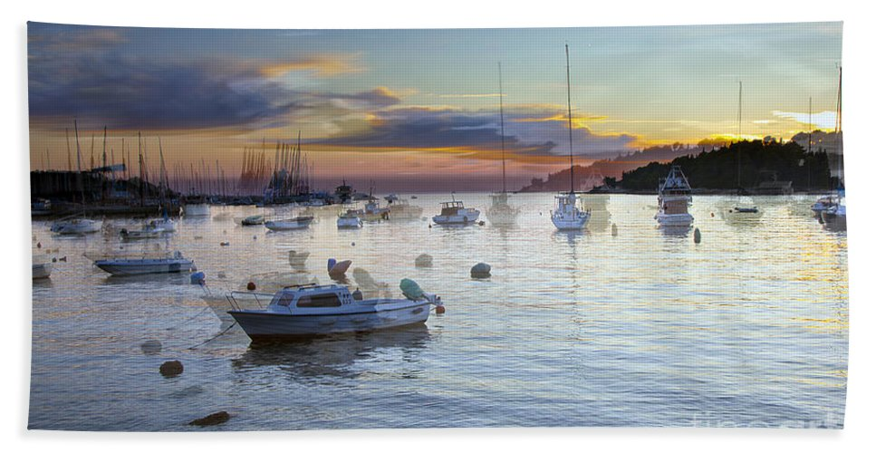 Boats Bath Sheet featuring the photograph Boats On The Water by Madeline Ellis