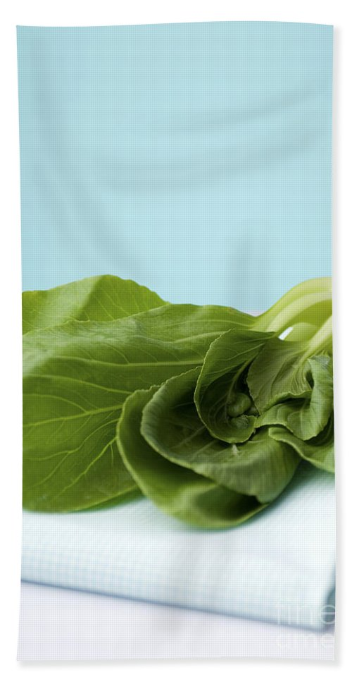Bok Choy Hand Towel featuring the photograph Bok Choy Chinese Cabbage by Shahar Tamir