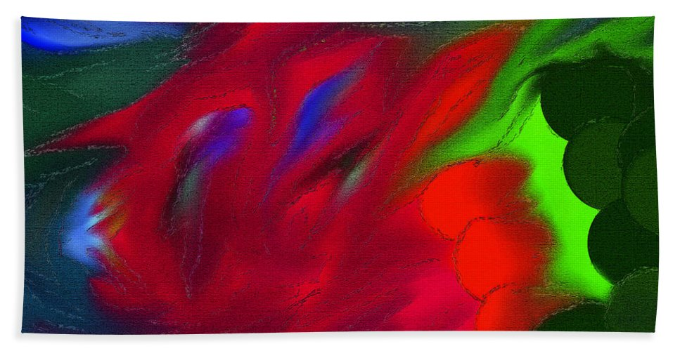 Vibrant Color Art Bath Sheet featuring the digital art Boldly Into The Stream by Marie Jamieson