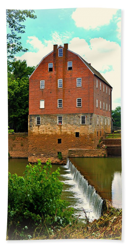 Mill Bath Sheet featuring the photograph Bollinger Mill by Marty Koch