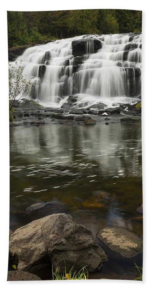 Bond Hand Towel featuring the photograph Bond Falls 2 by John Brueske