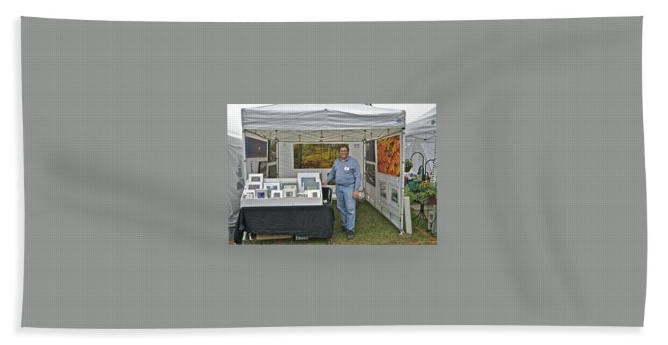 Bath Sheet featuring the photograph Booth At Saint Clair Shores by Michael Peychich