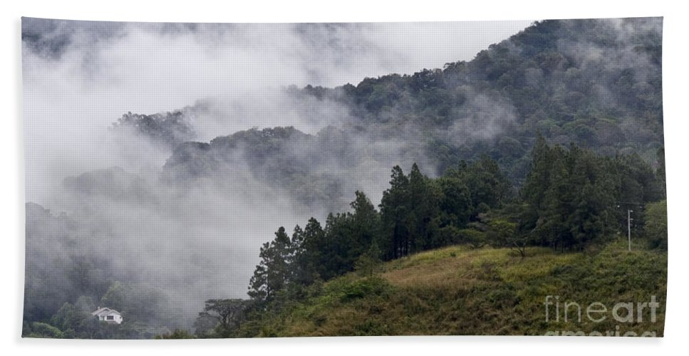 Central America Bath Sheet featuring the photograph Boquete Highlands by Heiko Koehrer-Wagner