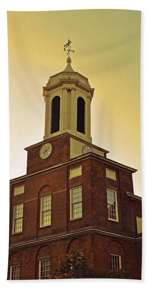 Boston Bath Sheet featuring the photograph Boston Church by Brittany Horton