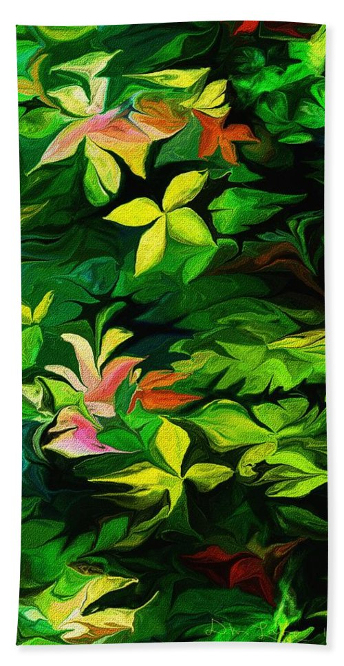 Fine Art Hand Towel featuring the digital art Botanical Fantasy 101712 by David Lane