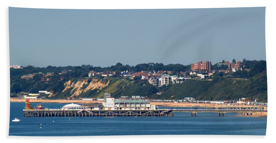 Bournemouth Pier Bath Sheet featuring the photograph Bournemouth Pier In Dorset by Chris Day