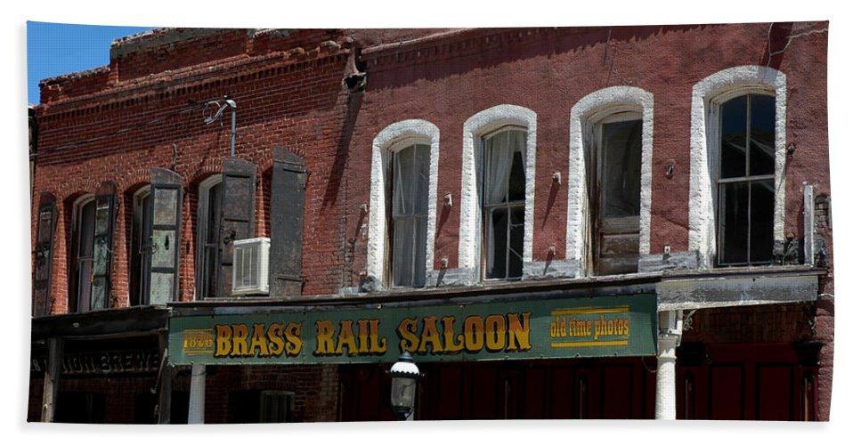 Usa Hand Towel featuring the photograph Brass Rail Saloon by LeeAnn McLaneGoetz McLaneGoetzStudioLLCcom