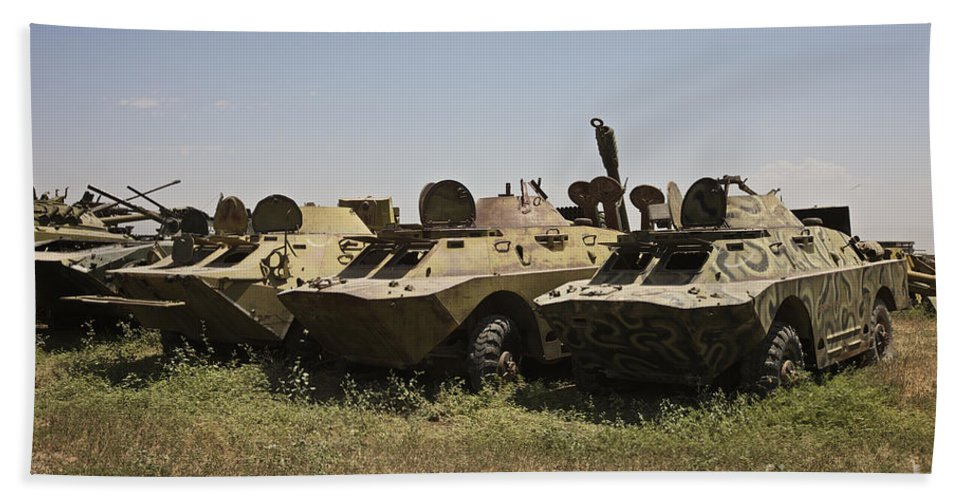 Vehicle Hand Towel featuring the photograph Brdm-2 Combat Reconnaissancepatrol by Terry Moore