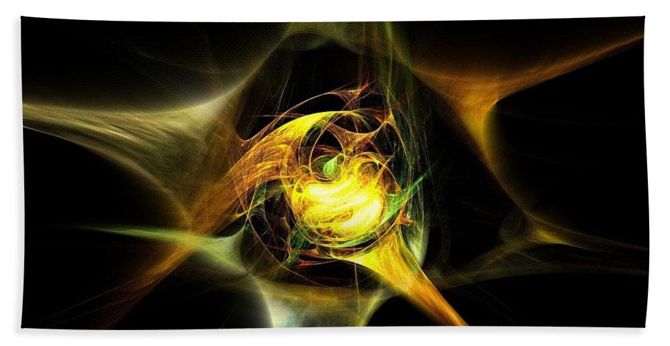 Fractal Hand Towel featuring the digital art Breaking Out by Klara Acel