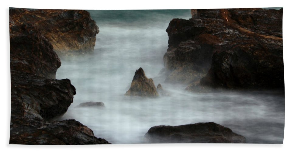 Oceans Hand Towel featuring the photograph Breaking Tides by Rebecca Akporiaye