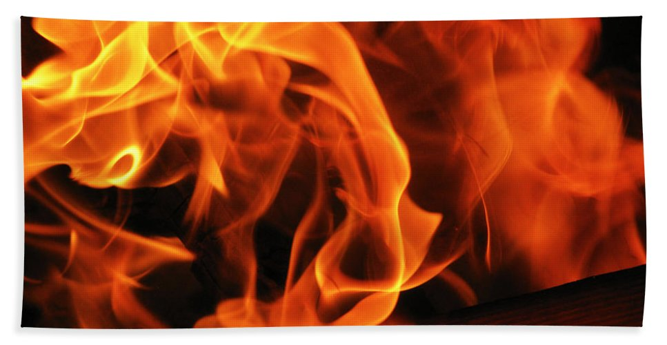 Fire Hand Towel featuring the photograph Breath Of Fire by Shannon Nolting