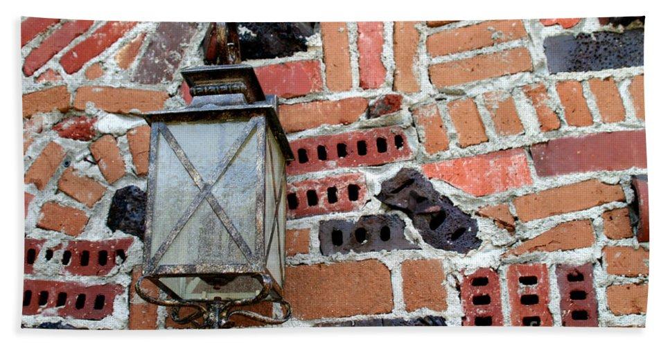Wall Hand Towel featuring the photograph Brick Light by Henrik Lehnerer