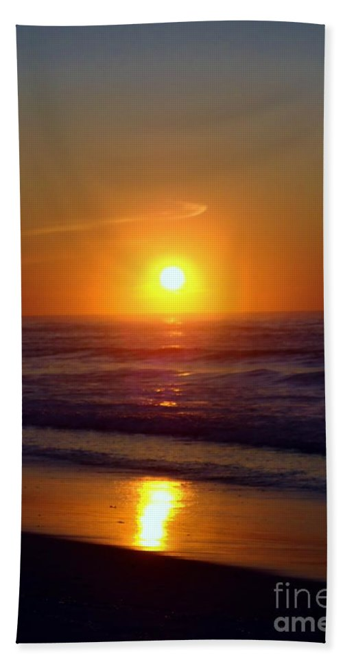 Sunrise Hand Towel featuring the photograph Brilliant Gold by Art Dingo