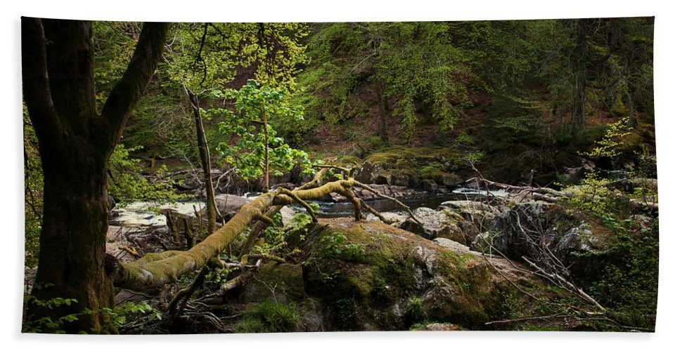 Beautiful Hand Towel featuring the photograph Broken Path by Svetlana Sewell