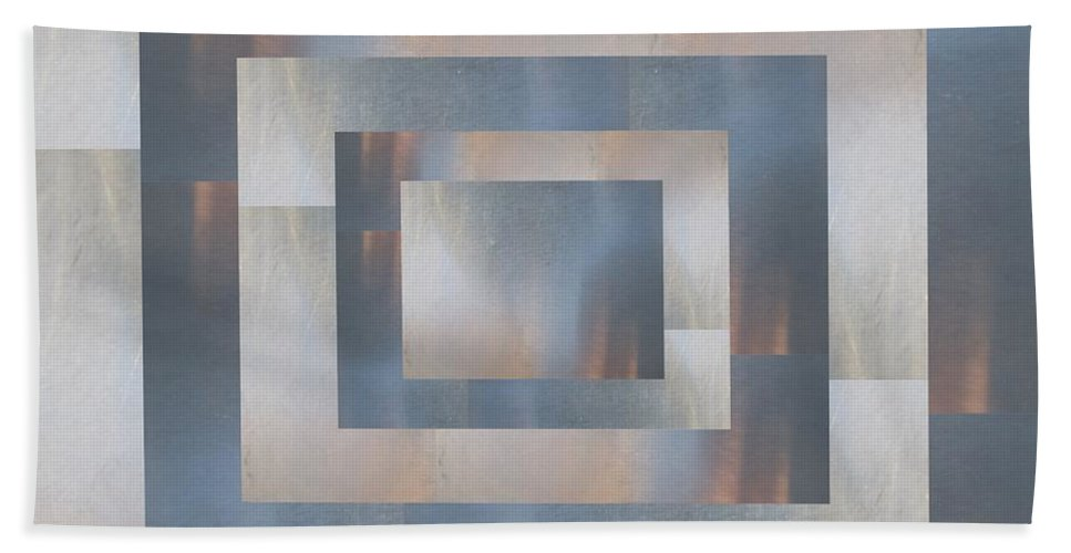 Abstract Hand Towel featuring the digital art Brushed 20 by Tim Allen