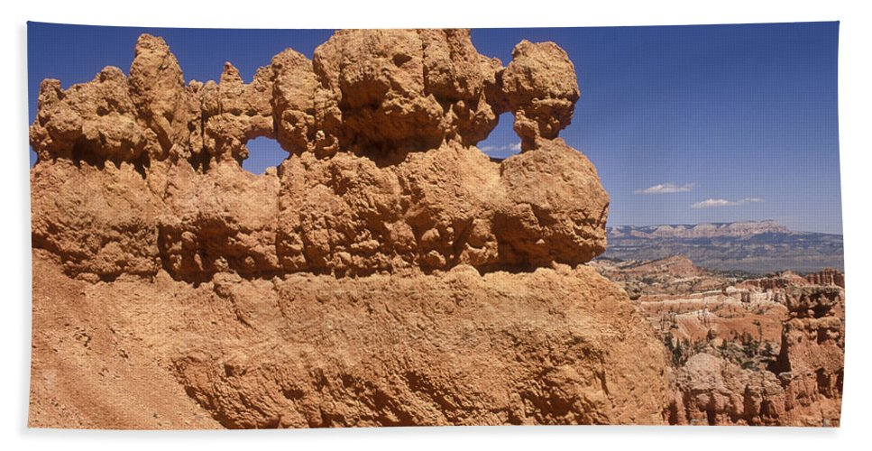 Bryce Canyon Hand Towel featuring the photograph Bryce Canyon - Mask Formation by Sandra Bronstein