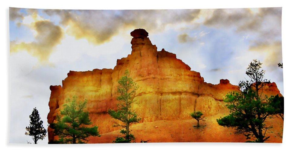 Bryce Bath Sheet featuring the photograph Bryce National Park Sunset by Ellen Heaverlo