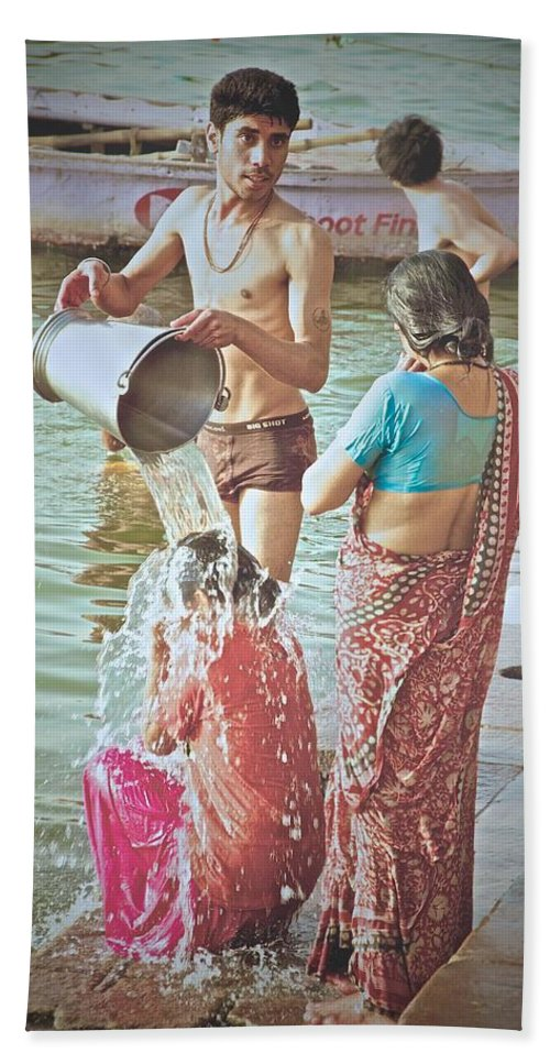 India Bath Sheet featuring the photograph Bucket Wash by Valerie Rosen