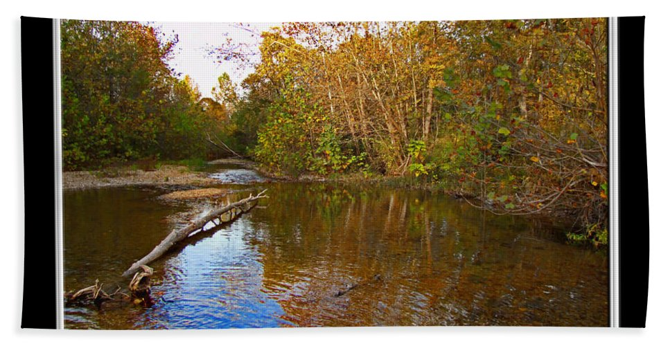 Water Bath Sheet featuring the photograph Buffalo Creek by Debbie Portwood