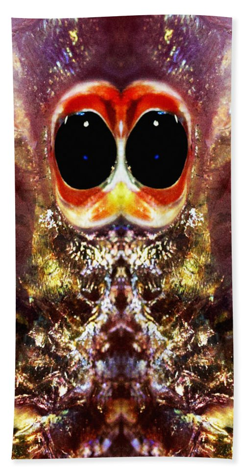 Abstract Bath Sheet featuring the photograph Bug Eyes by Skip Nall