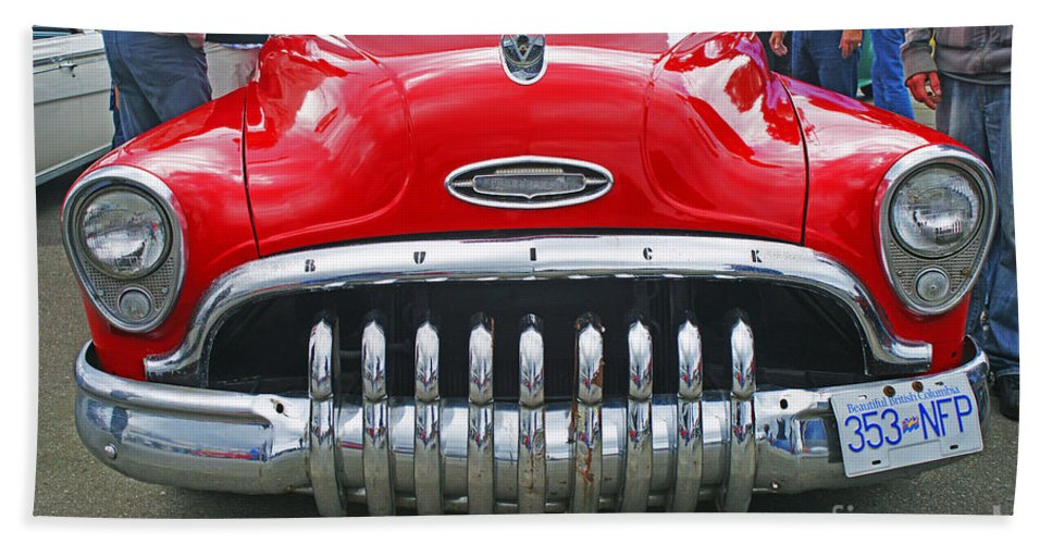Custom Cars Bath Sheet featuring the photograph Buick With Teeth by Randy Harris