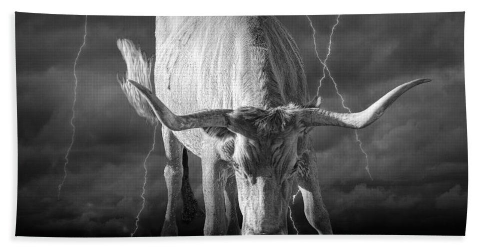 Art Bath Sheet featuring the photograph Bull Market by Randall Nyhof