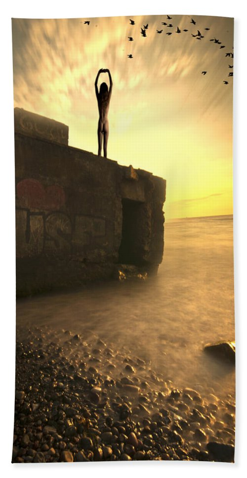 Ostsee Hand Towel featuring the photograph Bunkeruntergang by Nathan Wright