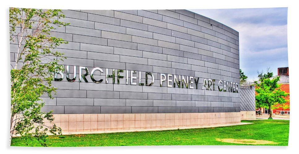 Bath Sheet featuring the photograph Burchfield Penny Art Center by Michael Frank Jr