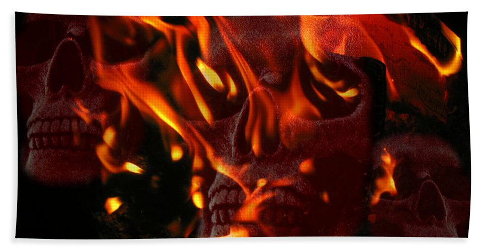 Burning Hand Towel featuring the photograph Burning Man by Joyce Dickens