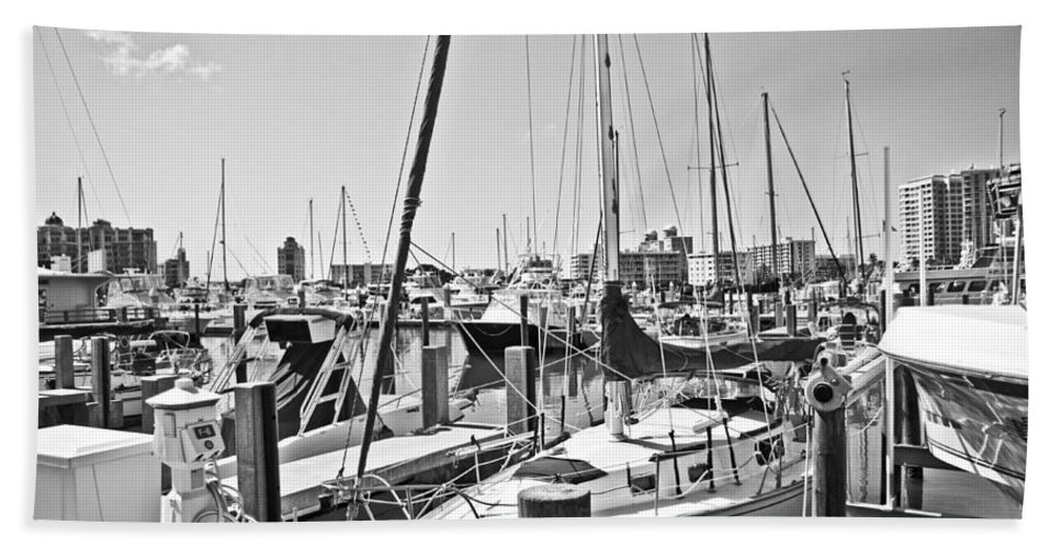 Harbor Bath Sheet featuring the photograph Busy by Betsy Knapp