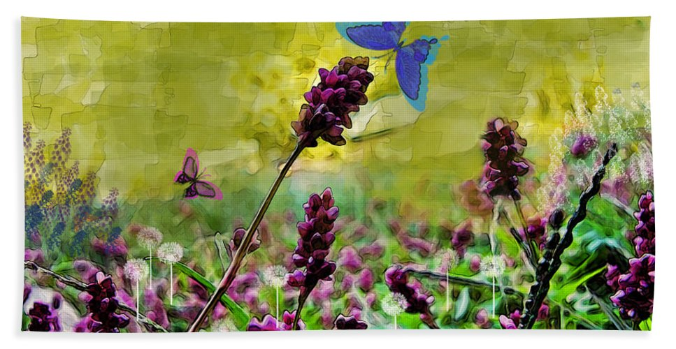 Nature Bath Sheet featuring the photograph Butterfly Dreams by Debbie Portwood