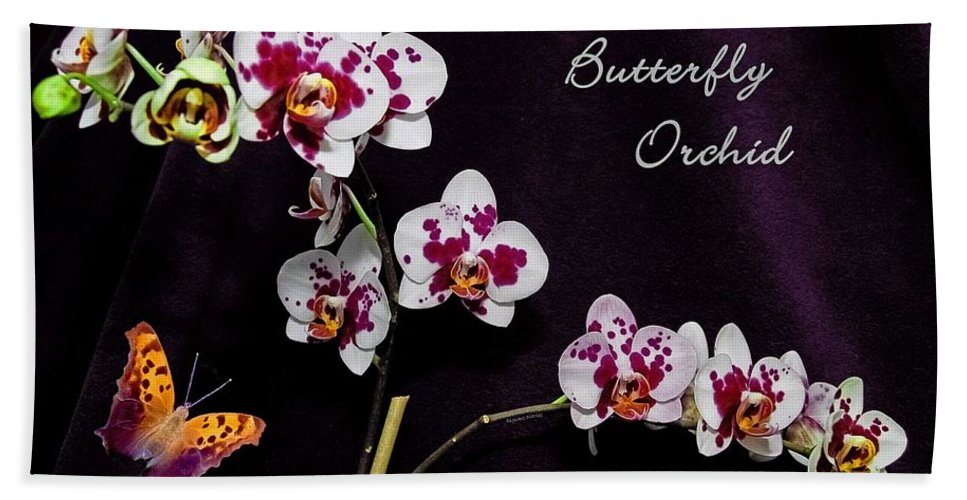 Orchid Bath Sheet featuring the photograph Butterfly Orchid by DigiArt Diaries by Vicky B Fuller