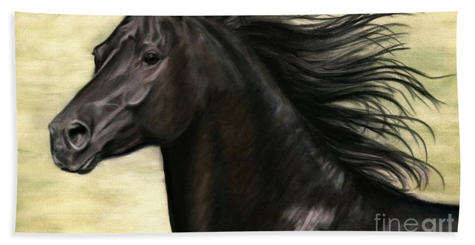 Black Bath Sheet featuring the pastel Cadence by Sheri Gordon