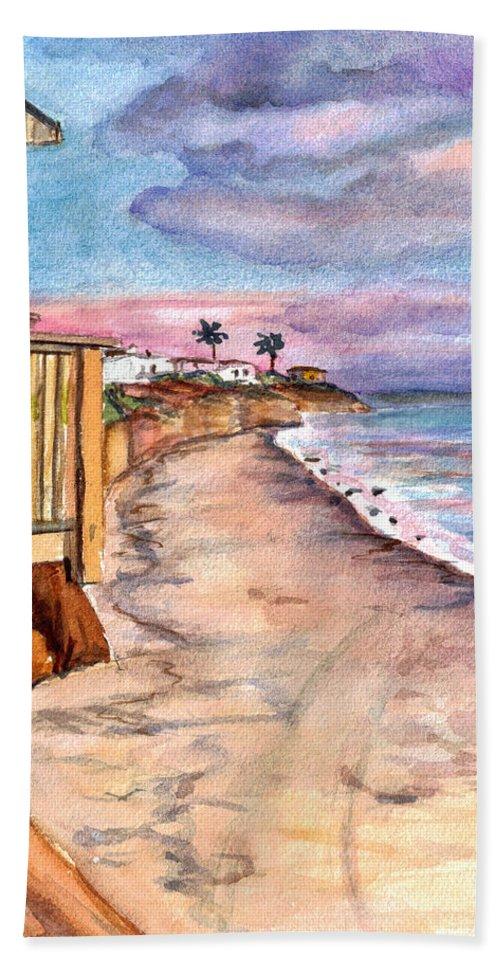 California Bath Sheet featuring the painting California Coast by Clara Sue Beym