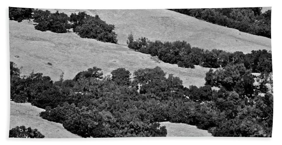 California Hand Towel featuring the photograph California Hillside Oaks by Eric Tressler