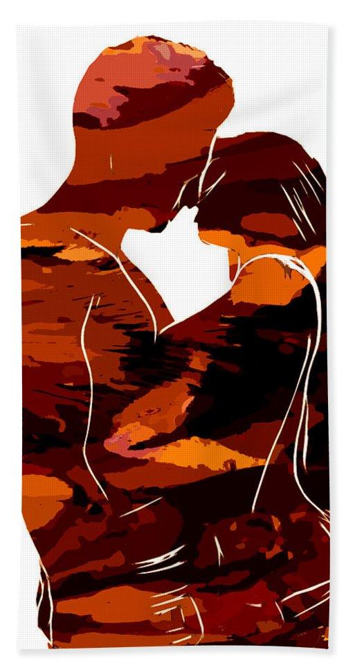 Camouflage Female Women Woman Body Nude Breast Tits Scape Figure Curve Curves Abstract Painting Digital Expressionism Impressionism Naked Black White Erotic 裸 Girl Sex Intimate Virgin Boobs Butt Innocence Male Men Man Lover Love Couple Kiss Intimo Erotico Vergine Culo Tette Innocenza Fille Femme Sexe Erotique Cul Vierge Seins Sieviete Kobieta Cycki Menina Intima Erotica Virgen Tetas Inocencia Beauty Sensual Portrait Art Love Lovesickness Emotional Colorful Bath Sheet featuring the painting Camouflage Lovers by Steve K