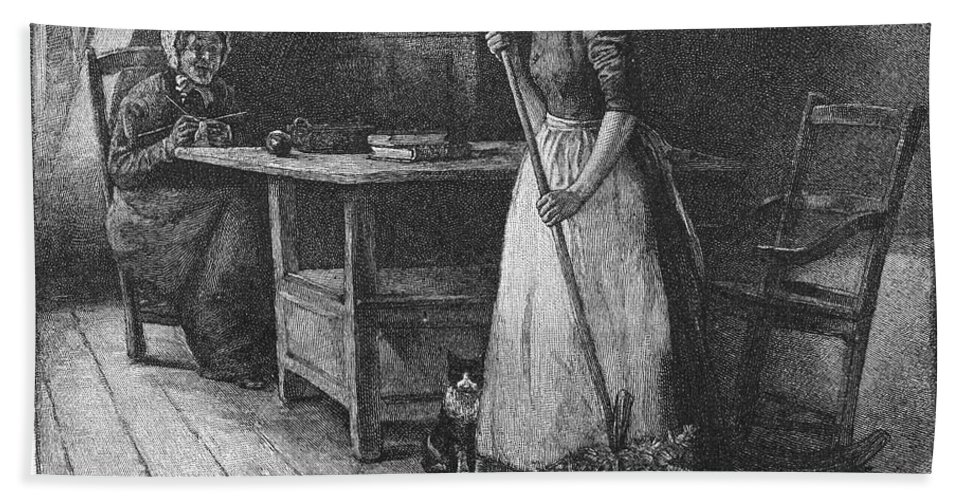 1883 Hand Towel featuring the photograph Canada: Daily Life, 1883 by Granger