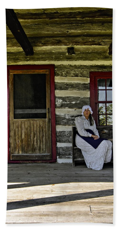 Grey Roots Museum & Archives Hand Towel featuring the photograph Canadian Gothic by Steve Harrington