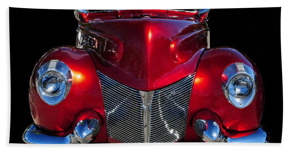 Red Hand Towel featuring the photograph Candy Red by Dave Mills