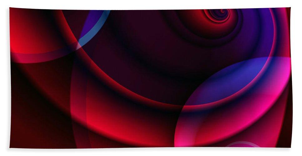 Clay Bath Sheet featuring the digital art Candy Swirls by Clayton Bruster