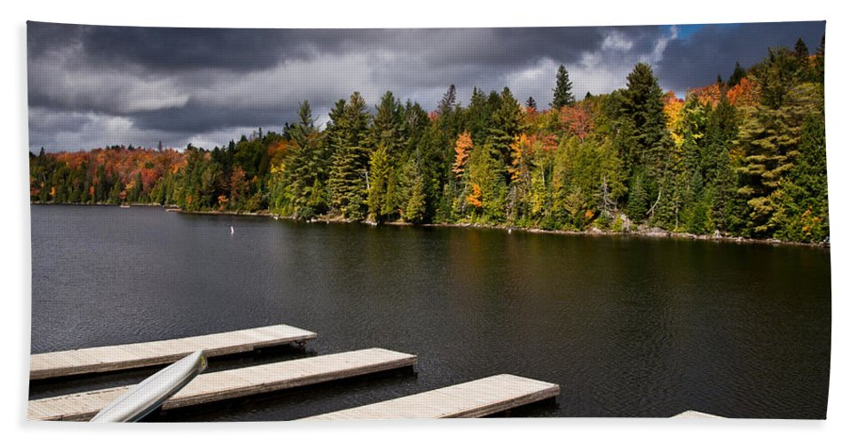 Canoe Bath Sheet featuring the photograph Canoe Lake by Cale Best