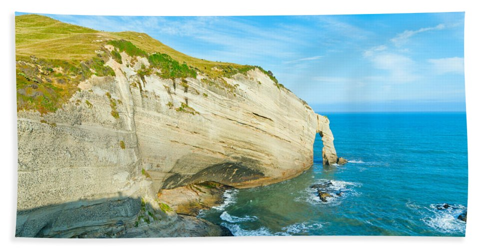 Background Bath Sheet featuring the photograph Cape Farewell Able Tasman National Park by U Schade