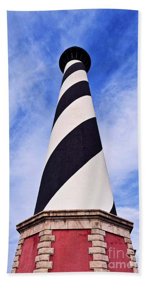 Cape Hatteras Lighthouse Hand Towel featuring the photograph Cape Hatteras Lighthouse by John Greim