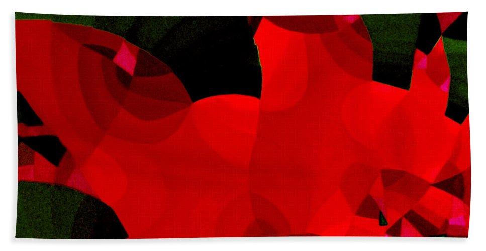 Australian Hand Towel featuring the painting Carnivale 4 by Giro Tavitian