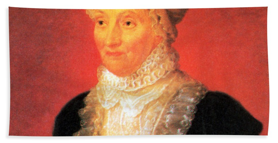 Science Hand Towel featuring the photograph Caroline Herschel, German-british by Science Source
