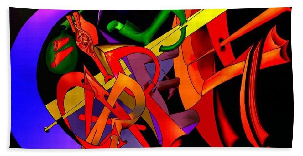 'carpe Diem' Hand Towel featuring the digital art Carpe Diem III by Helmut Rottler