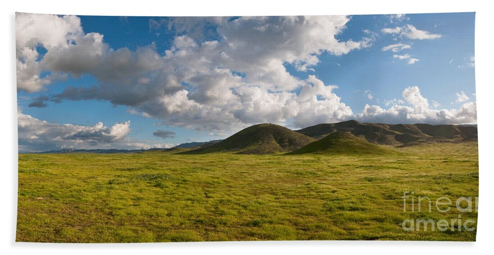 Carrizo Plain Hand Towel featuring the photograph Carrizo Plain National Monument by Stuart Wilson and Photo Researchers
