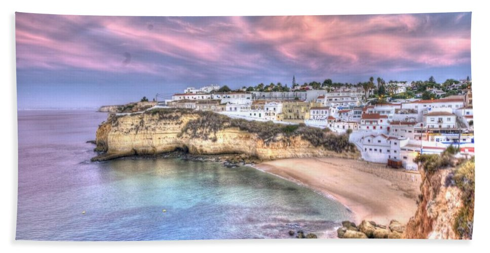 Algarve Hand Towel featuring the photograph Carvoeiro Early Morning by Nathan Wright