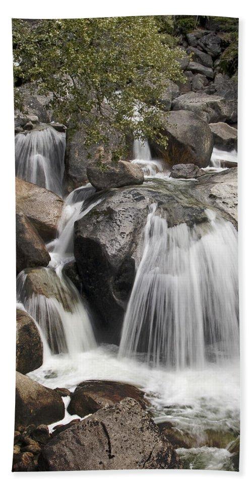 Cascade Creek Cascade Bath Sheet featuring the photograph Cascade Creek Cascade by Wes and Dotty Weber