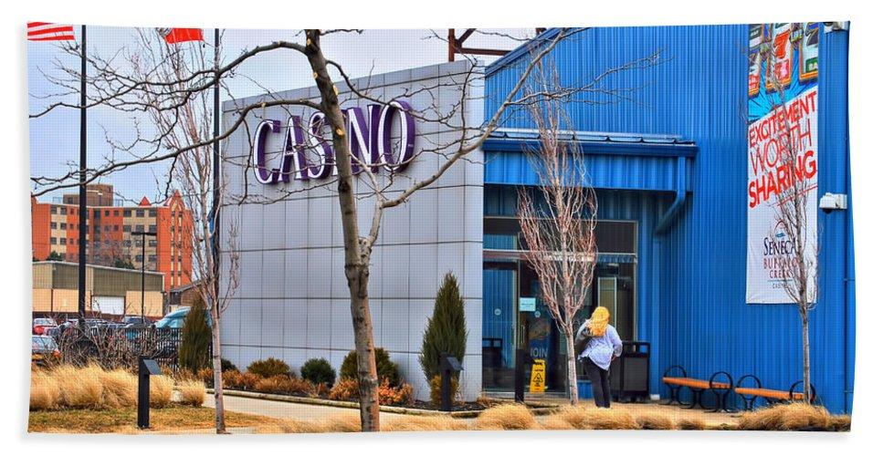 Bath Sheet featuring the photograph Casino by Michael Frank Jr